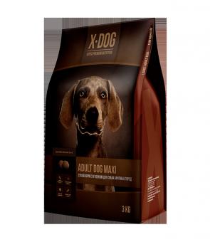 X-Dog Adult Dog Maxi 8кг Сухой корм с ягненком для собак крупных пород