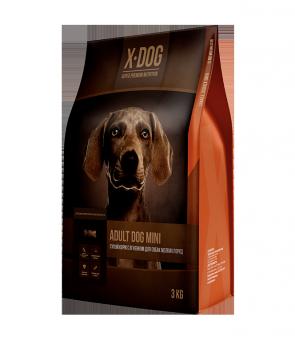 X-DOG Adult Dog Mini 8кг Сухой корм с ягненком для собак мелких пород