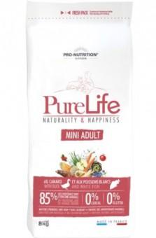 Flatazor 2 кг Pure Life adult mini Сухой корм для взрослых собак мелких пород с уткой и белой рыбой