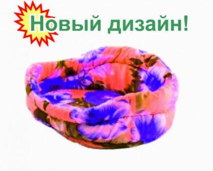 """Лежанка овальная """"Боттини"""", (поликоттон, поролон),  61*45*23 см"""