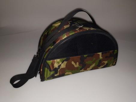 Сумка-переноска овальная (S) 38*18*22 см Раскладная  с карманом и ремнем, Оксфорд, Камуфляж