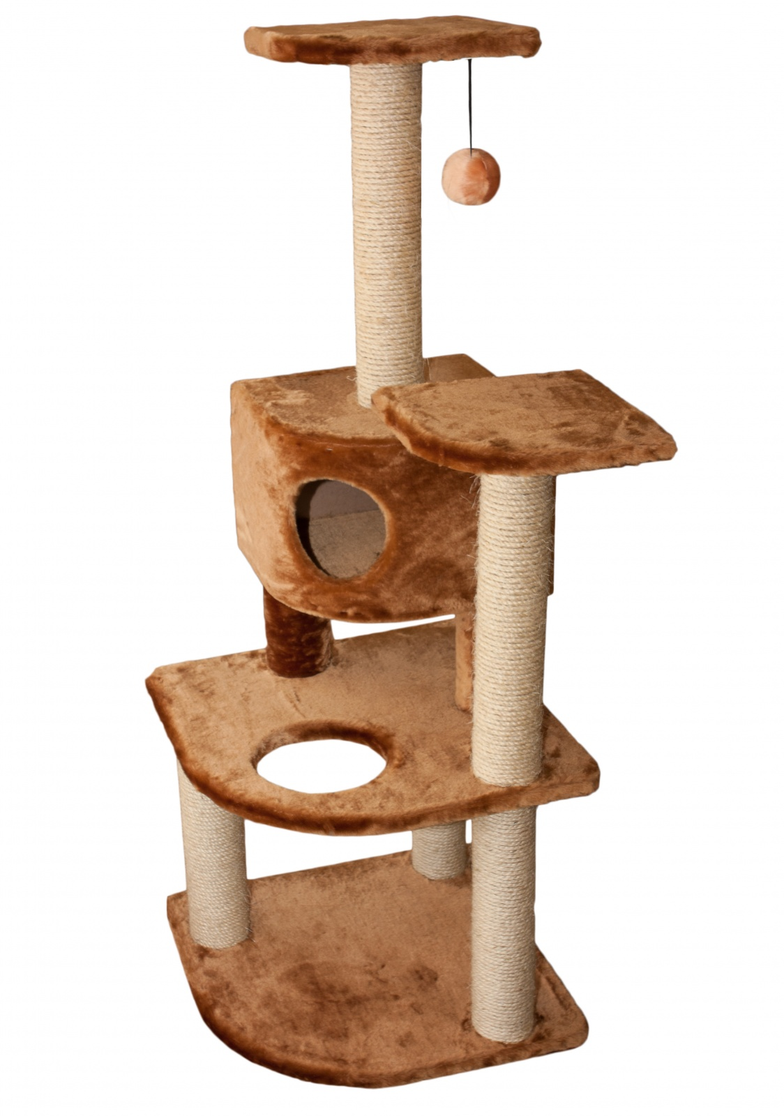 Кошачий домик угловой своими руками 61