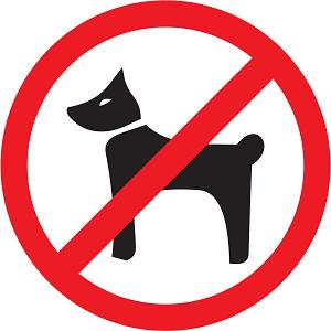 Вход с собаками запрещен